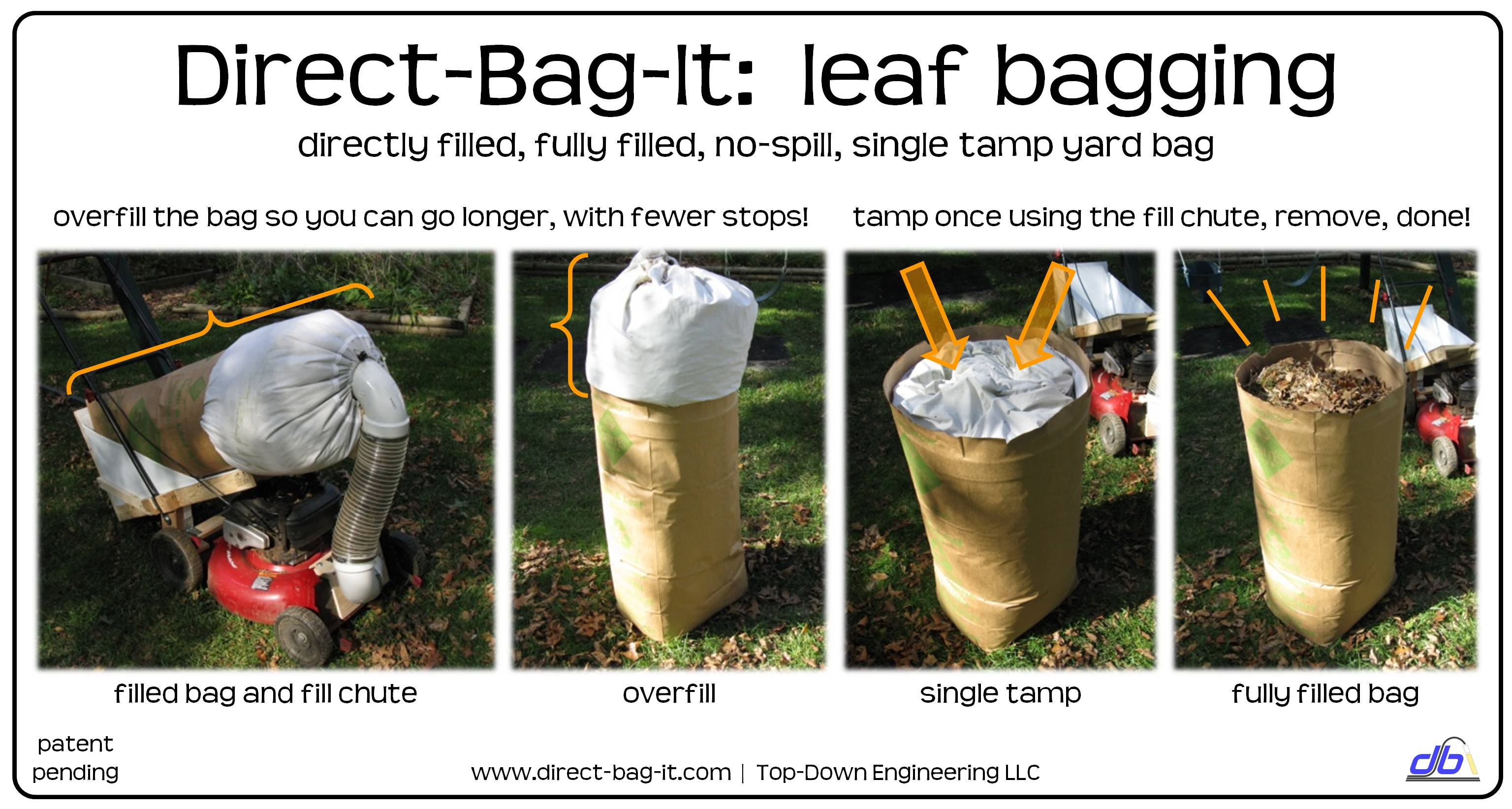 Direct Bag It The Smart Way To Bag Your Yard Rake Leaves